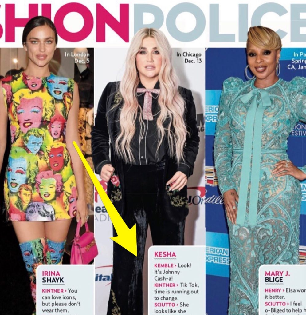 US Weekly Fashion Police with Steve Kemble, Irina Shayk, Kesha, Mary J. Blige