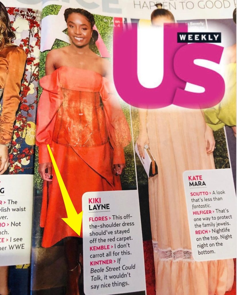 US Weekly Fashion Police with Steve Kemble, Kiki Layne, Kate Mara