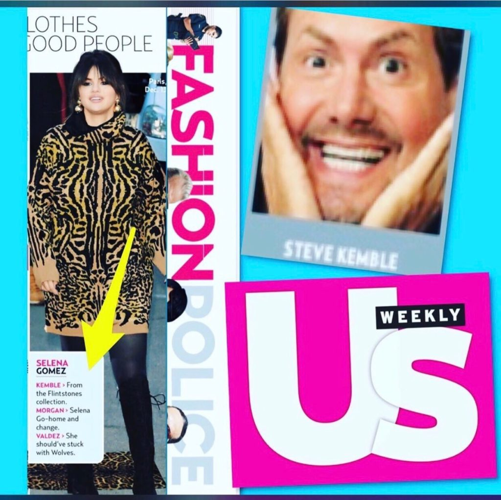 US Weekly Fashion Police with Steve Kemble, Selena Gomez