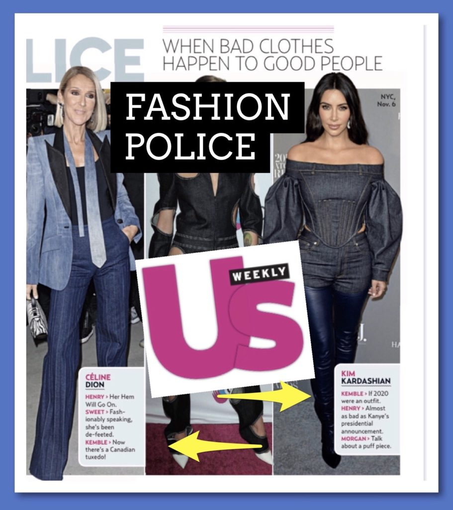 US Weekly Fashion Police with Steve Kemble, Kim Kardashian, Celine Dion