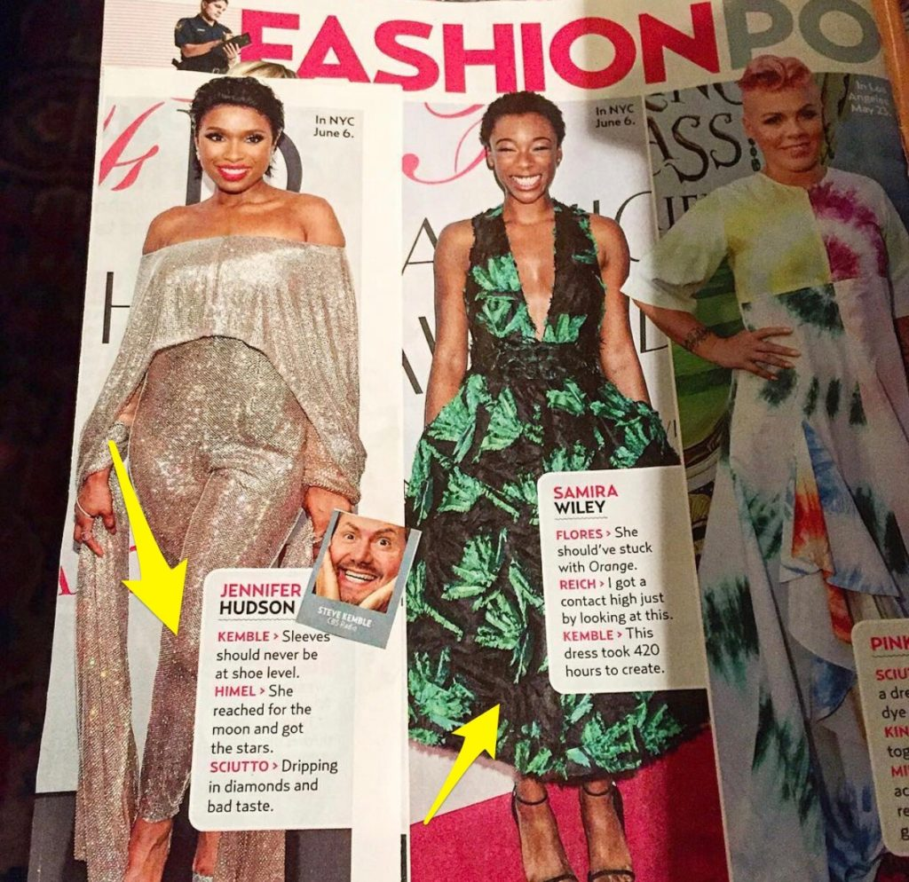 US Weekly Fashion Police with Steve Kemble, Jennifer Hudson, Samira Wiley, Pink