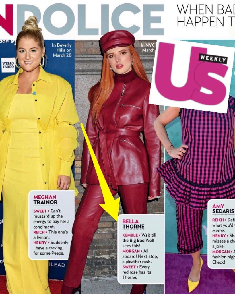 US Weekly Fashion Police with Steve Kemble, Meghan Trainor, Bella Thorne, Amy Sedaris