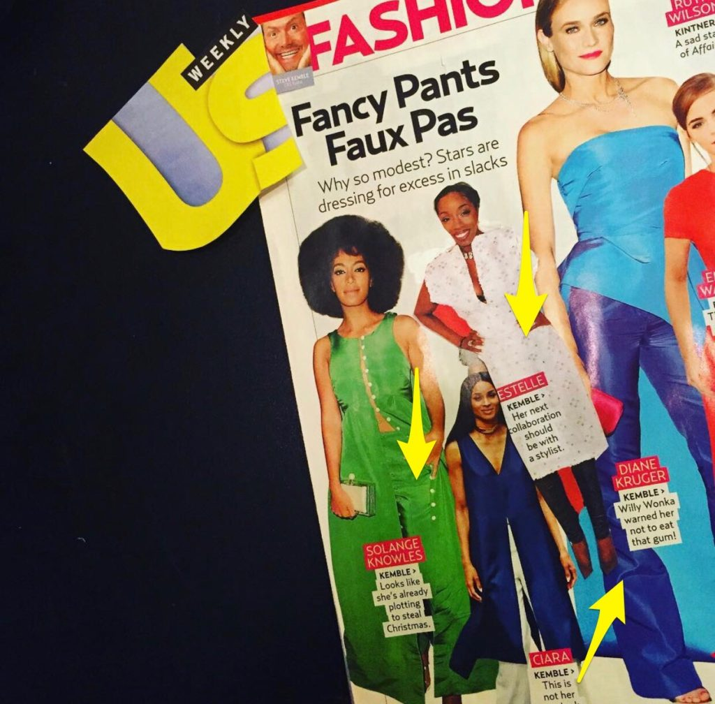 US Weekly Fashion Police with Steve Kemble, Solange Knowles, Ciara, Estelle, Diane Kruger