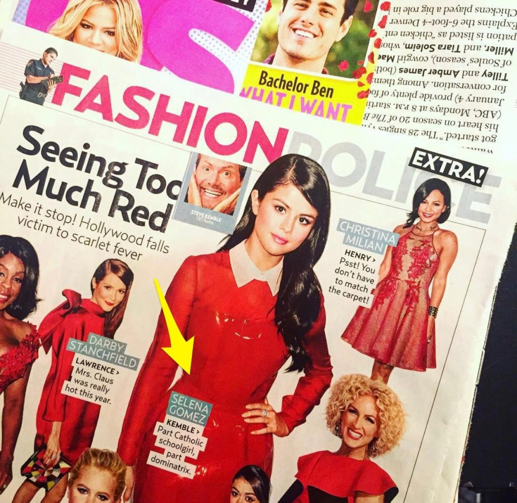 US Weekly Fashion Police with Steve Kemble, Darby Stanchfield, Selena Gomez, Christina Milian