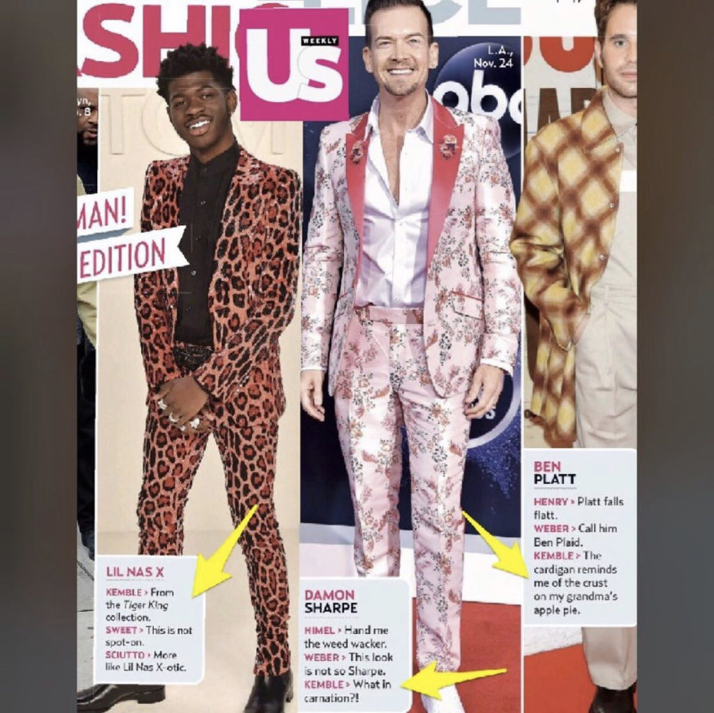 US Weekly Fashion Police with Steve Kemble, Lil Nas X, Damon Sharpe, Ben Platt