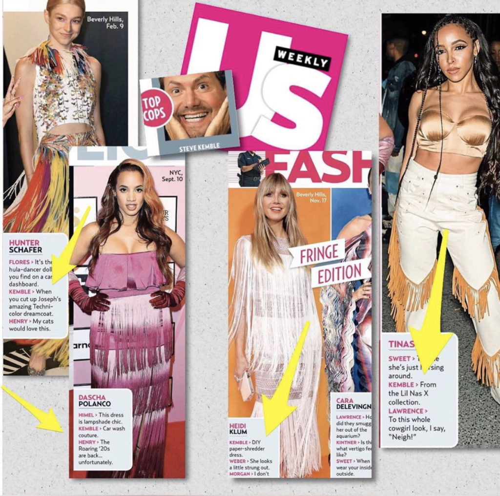 US Weekly Fashion Police with Steve Kemble, Hunter Schafer, Dascha Polanco, Heidi Klum, Cara Delevingne