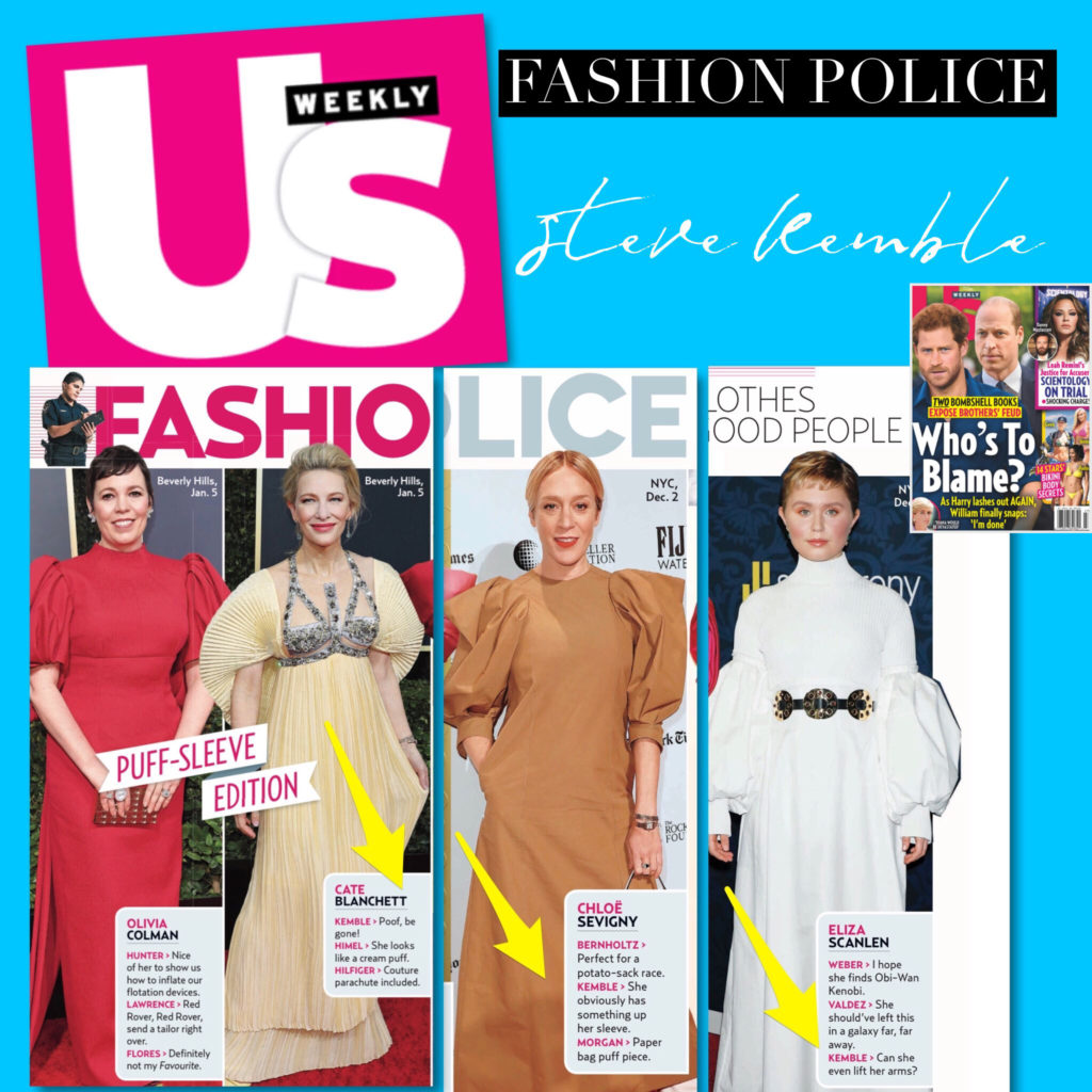 US Weekly Fashion Police with Steve Kemble, Olivia Colman, Cate Blanchett, Chloe Sevigny, Eliza Scanlen