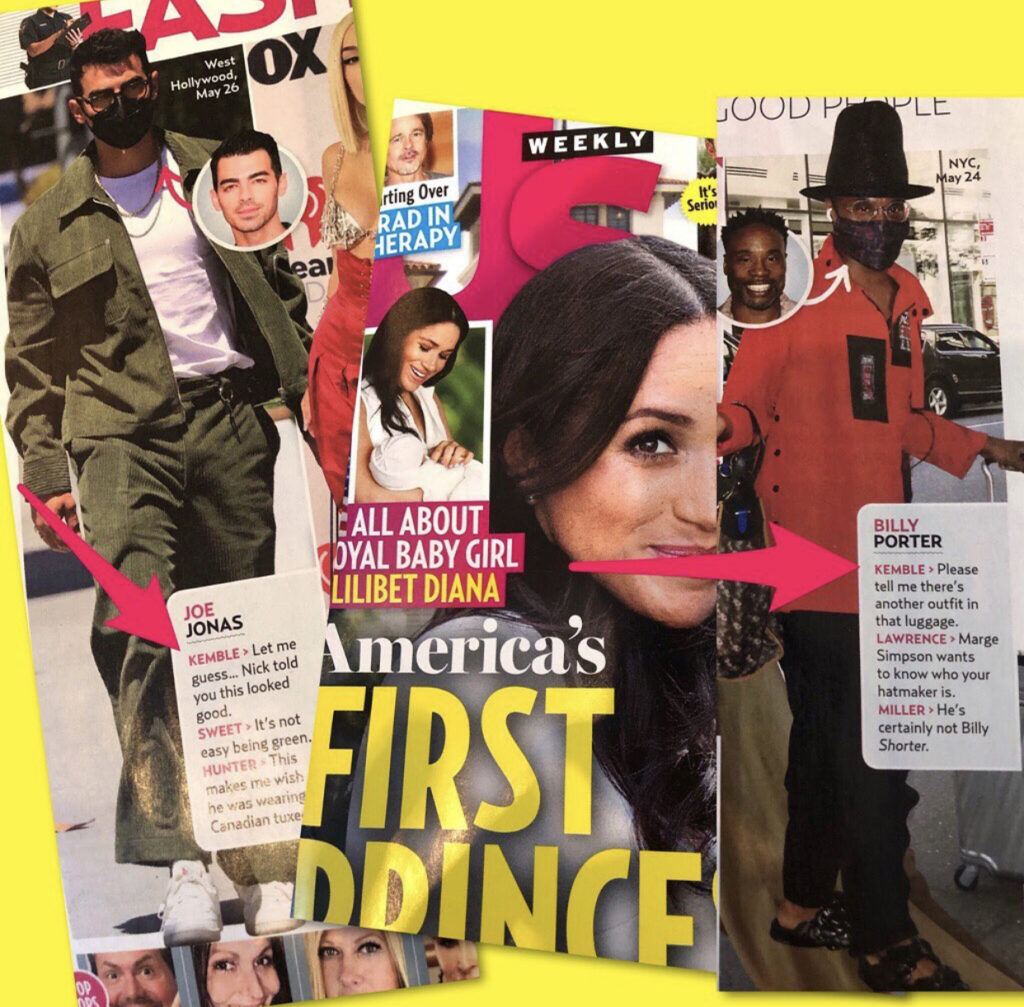 Steve Kemble in US Weekly, July, 2021 Fashion Police